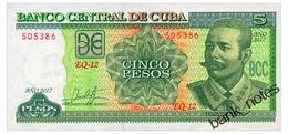 CUBA 5 PESOS 2017 Pick 116q Unc - Cuba