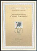 BRD - 1987 ETB 13/1987 # - Mi 1323 - 80Pf           Dietrich Buxtehude - FDC: Panes