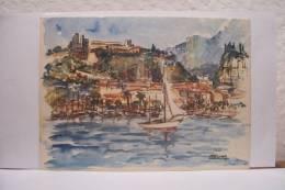 MONACO   ----  VUE  SUR  LE  PORT --  ROMEY Illustrateur - Monaco