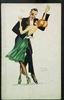 Illustration Paul Kropp  Couple Danse Valse - Baile