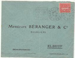 ESC 50c Semeuse O. Daguin Gravelines Nord 1928 - Postmark Collection (Covers)