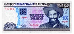CUBA 20 PESOS 2016 Pick 122 Unc - Cuba