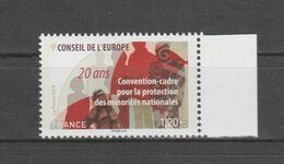 FRANCE / 2018 / Y&T SERVICE N° 173 ** : CONSEIL (Protection Des Minorités Nationales) X 1 BdF D - Nuevos