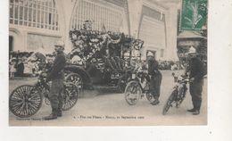 CPA  NANCY  FETE DES FLEURS CHAR DES POMPIERS 12 SEP 1909 - France