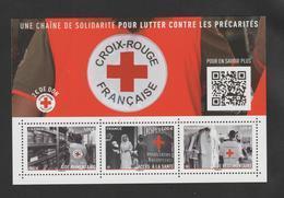 """FRANCE / 2019 / Y&T N° 5350/5352 ** Ou F5350 ** (Feuillet """"Croix-Rouge : Solidarité Contre Précarités) X 1 - Neufs"""