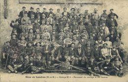 CPA 54 Mine De LANDRES Groupe N°6 Personnel Du Roulage Et Des Recettes Tres Rare 1902 - Autres Communes