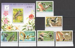 RR351 1997,2000 FIJI AFGHANISTAN FAUNA BIRDS SINGPEX 1SET+1BL MNH - Altri