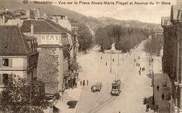 NEUFCHATEL    Vue Sur La Place Alexis Marie PIAGET... - NE Neuchatel