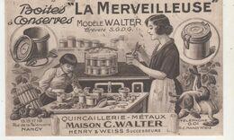CPA  NANCY BOITE A CONSERVES LA MERVEILLEUSE MODELE WALTER RUE DE LA FAIENCERIE - Francia