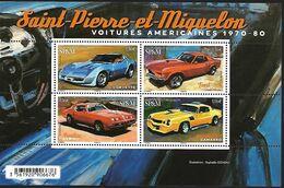 SP & M 2020 - Bloc - Voitures Américaines ** (Corvette - Mustang - Firebird - Camarro) - St.Pierre & Miquelon