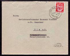 DR Brief TÜBINGEN - Ulm A.D. - 29.10.34 - Mi.545 - Cartas
