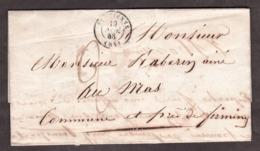 LAC - 19 Septembre 1848 - St Etienne Pour Au Mas ? Près Firminy - Port Dû 2 Décimes - 1801-1848: Vorläufer XIX