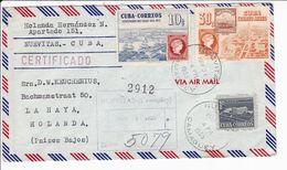Cuba Busta Raccomandata 1955 Registered Cover Centenario Del Sello Nuevitas - Covers & Documents