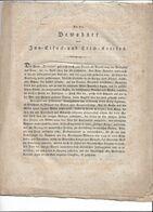 """1er Empire ( ALLEMAGNE): Dépêche """" Aux Habitants Du District De La  Inn-Eisack-Und-Etsch"""" - Historical Documents"""