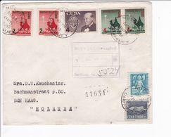 Cuba Busta 1956 Registered Cover Nuevitas --> Holanda - Covers & Documents