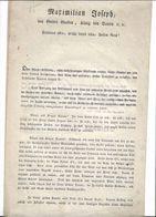 1er Empire ( ALLEMAGNE) Dépêche:  Maximilien Joseph, élu Par La Grâce De Dieu, Roi De Bavière, Présente Ses Salutations - Historical Documents