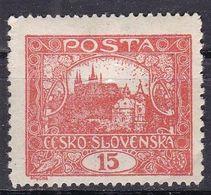 Cecoslovacchia, 1919 - 25h Hradcany At Prague, Dent. 11 1/2 X 10 1/2 - Nr.44a MLH* - Neufs
