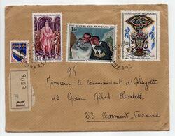 - Lettre Recommandée PARIS Pour CLERMONT-FERRAND 17.12.1966 - Bel Affranchissement Philatélique - - Briefe U. Dokumente