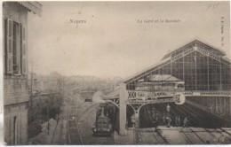 58 NEVERS  La Gare Et La Rotonde - Estaciones Con Trenes