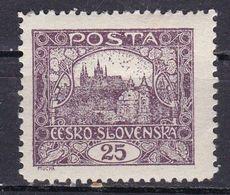 Cecoslovacchia, 1919 - 25h Hradcany At Prague, Dent. 11 1/2 X 10 1/2 - Nr.46a MNH** - Neufs