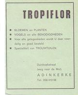 Pub Reclame - Bloemen & Planten Tropiflor - De Panne - 1969 - Werbung