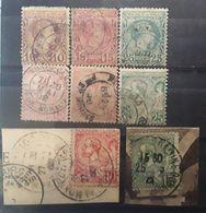 MONACO 1885 - 1920, 8 Timbres Charles III / Albert  1er Obl, Btb  , Cote 266 Euros - Monaco