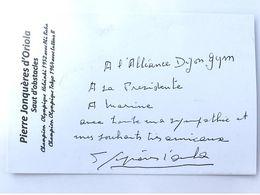 Pierre JONQUERES D'ORIOLA - Signé / Dédicace Authentique / Autographe - Horse Show