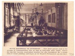 Orig. Knipsel Coupure Tijdschrift Magazine - Antwerpen - Witte Donderdag In St Julianusgasthuis - 1931 - Reclame