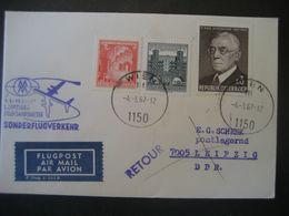 Österreich 1967- Luftpost-Beleg Leipziger Frühjahrsmesse Mit Mi.Nr. 1234 - Poste Aérienne