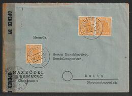 Auslandsbrief Mit MiNr. 952 MeF (3), Gestempelt BAMBERG 3 I 09.9.47 -10 Nach Molln Oberösterreich, Zensur, Portorichtig - Gemeinschaftsausgaben