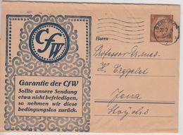 DR - CfW, 3 Pfg. Hindenburg, Privat-GA-Streifband, Berlin - Jena 1934 - Germania