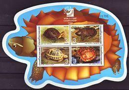 (283) Thailand / Thailande / 2004 / Turtles Sheet / Bf / Bloc Tortues / Schildköten / Overprint ** / Mnh Michel BL 177 I - Thailand