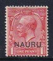 Nauru 1916 Nauru Ovpt SG 2 Mint Hinged - Nauru
