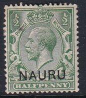 Nauru 1916 Nauru Ovpt SG 1 Mint Hinged - Nauru