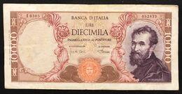 10000 Lire Michelangelo 04 01 1968  LOTTO 2228 - [ 2] 1946-… : Republiek