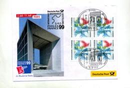Lettre Cachet Bonn  Salon Automne Paris Sur Carré Expo Hannovre  Theme Arc De Triomphe - Marcophilie - EMA (Empreintes Machines)