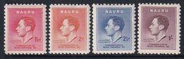 Nauru 1937 Coronation Sc 35-38 Mint Hinged - Nauru