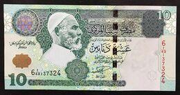 Lybia  LIBIA 10 Dinars 2004 Pick 70b Sup/unc Lotto 2241 - Libya