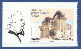 FRANCE Lyon, Villa Des Frères Lumière. Autoadhésifs Neuf**. Cinéma, Film, Movie. - Cinema