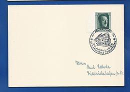 Carte Avec Timbre à 6 Deutches Reich  Effigie A.H  Oblitération: Braunau Berlin 30 April 1938 - Covers & Documents