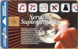 Colombia - CO-ME-005A, Metrotel, Servicios Suplementarios, Earth, GEM2 (Black/Grey),  Services, 6.000 $, Used As Scan - Colombia