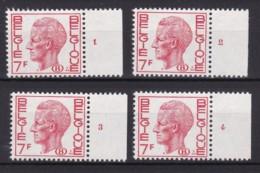 Belgie Plaatnr  Dientzegels YT** 64-67 Fos - ....-1960
