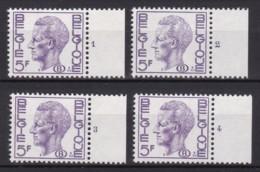 Belgie Plaatnr  Dientzegels YT** 68-71 Fos - ....-1960