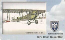 Turkey, TR-C-097, Turkish Air Force, Caudron C-27 1924-37, Airplane, 2 Scans. - Türkei