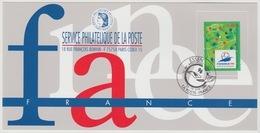 143 Carte Officielle Exposition Internationale Exhibition Essen 1996 France FDC FIFA World Cup 1998 Coupe Monde Football - Fußball-Weltmeisterschaft