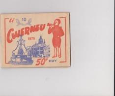 """HUY   """"Li Cwerneu"""" Carnet D'épargne De La Maison Aux 100000 Chemises  André LHOEST  Rue Mounie 18  à HUY - Advertising"""