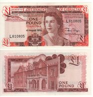 GIBRALTAR   £ 1   Queen Elizabeth II- Covenant Of Gibraltar   P20e  Dated 04.08.1988   UNC - Gibilterra