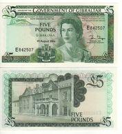 GIBRALTAR   £ 5   Queen Elizabeth II- Covenant Of Gibraltar   P21b  Dated 04.08.1988   UNC - Gibilterra