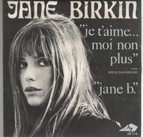 Disque 45 Tours JANE BIRKIN Avec SERGE GAINSBOURG - 1969 Disc'az 10074 - 2 Titres - Disco, Pop