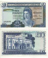 GIBRALTAR   £ 10   Queen Elizabeth II - Govenor's House  P22b  Dated 21.10.1986   UNC - Gibilterra